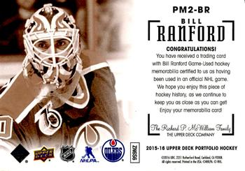 Bill ranford gallery the trading card database 2015 16 upper deck portfolio profiles materials dual jersey pm2 br bill freerunsca Choice Image
