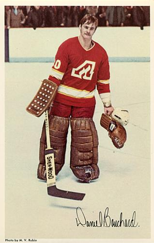 1972-73 Atlanta Flames Postcards #2 Dan Bouchard Front