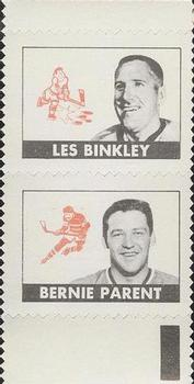1969-70 O-Pee-Chee - All-Star Stamp Pairs #NNO Les Binkley / Bernie Parent Front