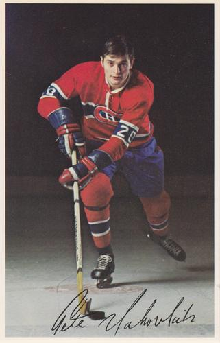 1969-70 Montreal Canadiens Color Postcards #NNO Peter Mahovlich Front