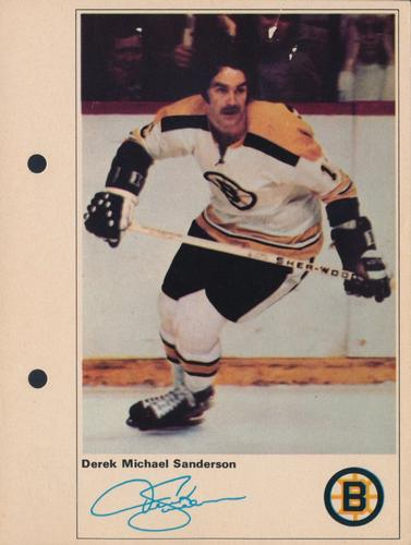 1971-72 Toronto Sun NHL Action Players #NNO Derek Sanderson Front