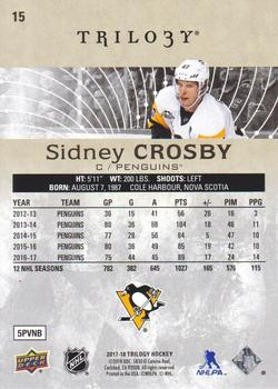 2017-18 Upper Deck Trilogy #15 Sidney Crosby Back
