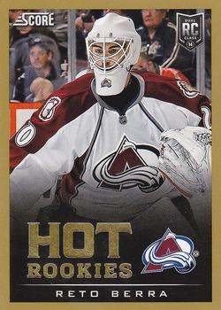 2013-14 Panini Rookie Anthology - Score Update Hot Rookies Gold #706 Reto Berra Front