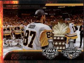 2017-18 Panini Stickers #500 Sidney Crosby Front