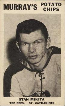 1957-58 Murray's Potato Chips St. Catharines Teepees #8 Stan Mikita Front