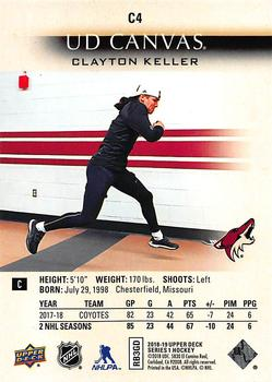 2018-19 Upper Deck - UD Canvas #C4 Clayton Keller Back