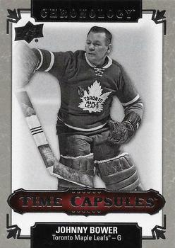 2018-19 Upper Deck Chronology - Time Capsules Rip Cards #TC-12 Johnny Bower Front