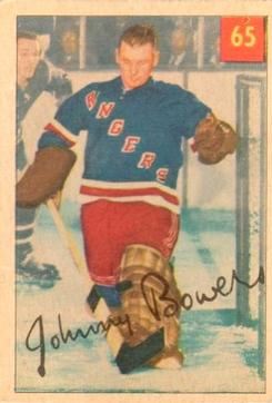 1954-55 Parkhurst #65 Johnny Bower Front