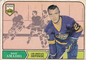 1968-69 O-Pee-Chee #157 Dave Amadio Front