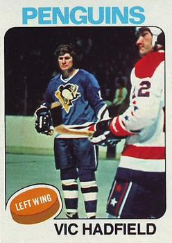 1975-76 Topps #165 Vic Hadfield Front