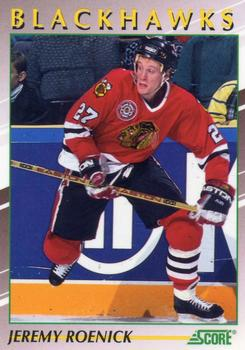 1991-92 Score Young Superstars #21 Jeremy Roenick Front