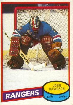 1980-81 O-Pee-Chee #190 John Davidson Front
