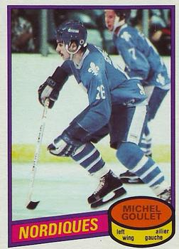 1980-81 O-Pee-Chee #67 Michel Goulet Front