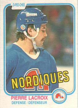 1981-82 O-Pee-Chee #278 Pierre Lacroix Front