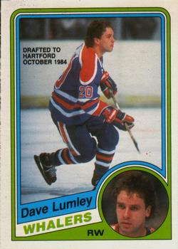 1984-85 O-Pee-Chee #252 Dave Lumley Front