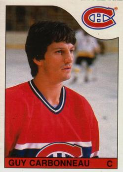1985-86 O-Pee-Chee #233 Guy Carbonneau Front