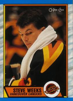 1989-90 O-Pee-Chee #285 Steve Weeks Front