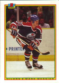1990-91 Bowman #199 Mark Messier Front