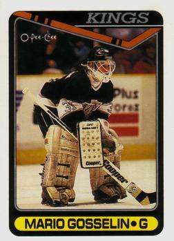 1990-91 O-Pee-Chee #442 Mario Gosselin Front