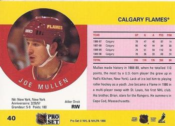 1990-91 Pro Set #40 Joe Mullen Back