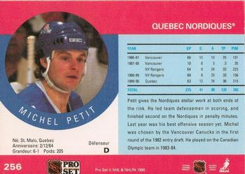 1990-91 Pro Set #256 Michel Petit Back