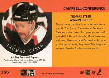 1990-91 Pro Set #356 Thomas Steen Back