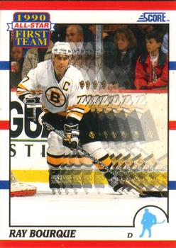 1990-91 Score American #313 Ray Bourque Front