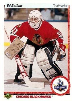 1990-91 Upper Deck #55 Ed Belfour Front