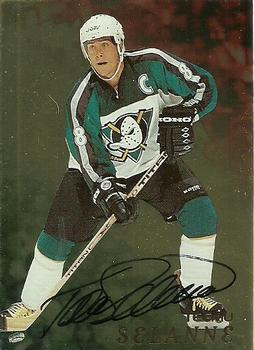 1998-99 Be a Player - Autographs Gold #3 Teemu Selanne Front