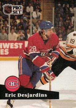 1991-92 Pro Set #118 Eric Desjardins Front