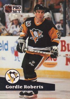 1991-92 Pro Set #458 Gordie Roberts Front