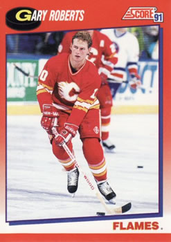 1991-92 Score Canadian Bilingual #199 Gary Roberts Front