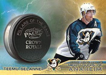 1998-99 Pacific Crown Royale - Pillars of the Game #1 Teemu Selanne Front