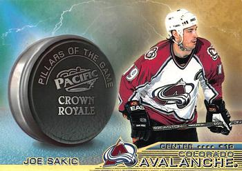 1998-99 Pacific Crown Royale - Pillars of the Game #8 Joe Sakic Front