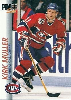 1992-93 Pro Set #87 Kirk Muller Front