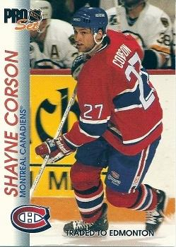 1992-93 Pro Set #89 Shayne Corson Front
