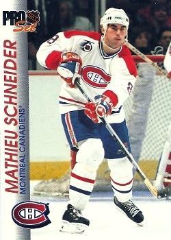 1992-93 Pro Set #91 Mathieu Schneider Front