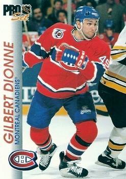 1992-93 Pro Set #92 Gilbert Dionne Front