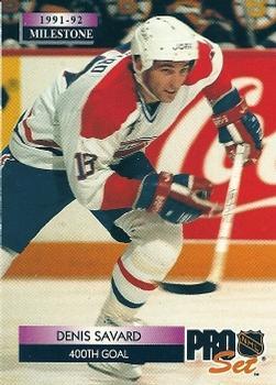 1992-93 Pro Set #260 Denis Savard Front