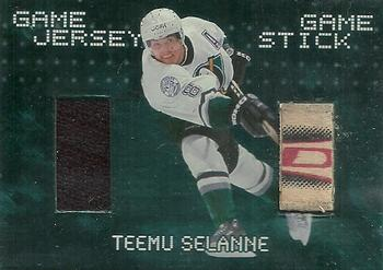 1999-00 Be a Player Millennium - Jersey and Stick #JS8 Teemu Selanne Front