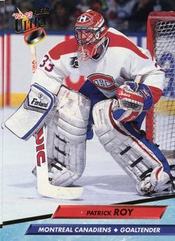 1992-93 Ultra #108 Patrick Roy Front