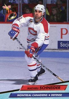 1992-93 Ultra #110 Mathieu Schneider Front