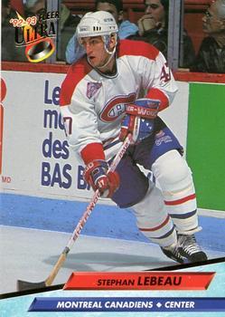 1992-93 Ultra #329 Stephan Lebeau Front