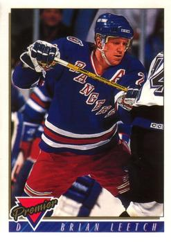 1993-94 O-Pee-Chee Premier #25 Brian Leetch Front