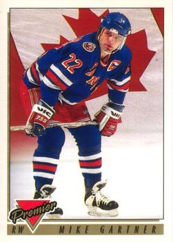1993-94 O-Pee-Chee Premier #384 Mike Gartner Front