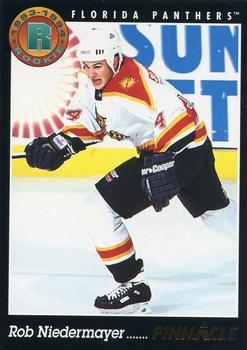 1993-94 Pinnacle #439 Rob Niedermayer Front