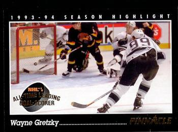 1993-94 Pinnacle #512 Wayne Gretzky Front
