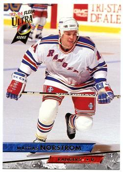 1993-94 Ultra #376 Mattias Norstrom Front