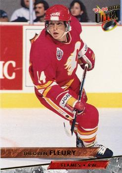 1993-94 Ultra #41 Theo Fleury Front