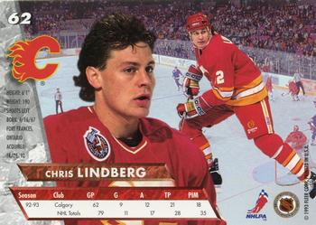 1993-94 Ultra #62 Chris Lindberg Back